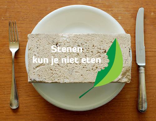 Stenen kun je niet eten
